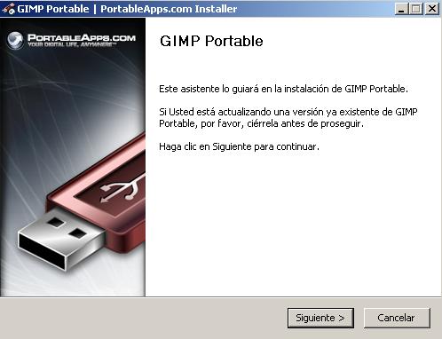 Gimp Portable instalación